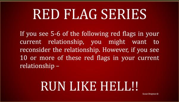 red flag narcissist