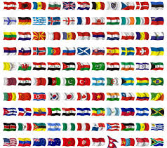 Collection Of Flags From Around The World Stock Photo, Picture And Royalty  Free Image. Image 121055431.